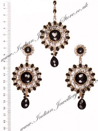 Large Round Earrings & Tikka ISBA10259
