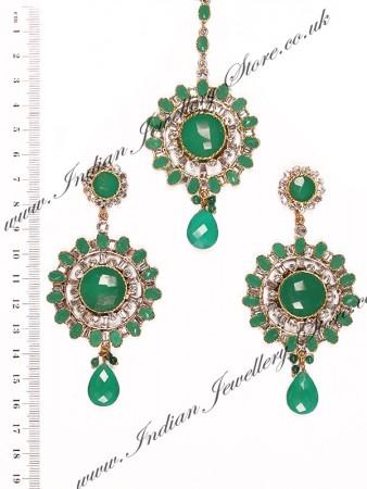 Large Round Earrings & Tikka ISGA10261