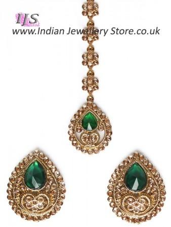 6054625e1 American Diamond, Antique Stud Earrings & Tikka - Sumandeep | Indian  Jewellery UK USA