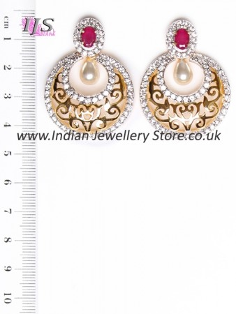Chand semi-stud filigree earrings EEGA10950C