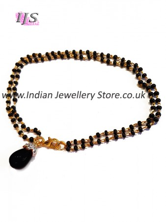 Black Indian Mangalsutra Bracelet MGBA10884