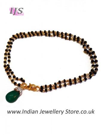 Green Indian Mangalsutra Bracelet MGGA10885