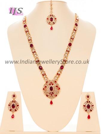 American Diamond Necklace Set - Usha NGWA10629C
