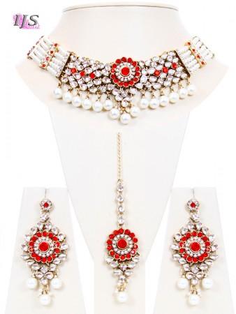 Antique Pearl & Kundan Choker- Kismat NAWL10703C
