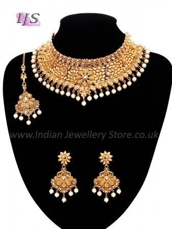 9563a28c0 Regal Flower Pearl Indian Bridal Jewellery | Indian Jewellery UK USA
