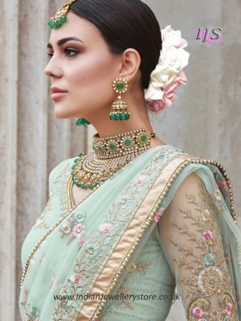 Designer Sabyasachi Inspired Bridal Jewellery Set NEWK11161C