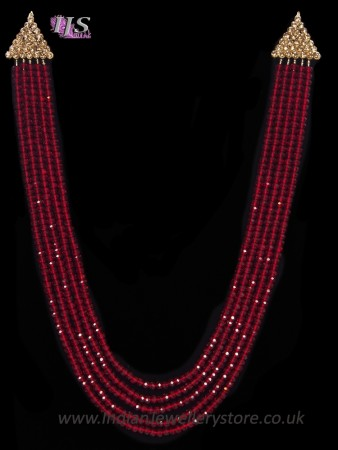 Multi-Stranded Crystal Long Indian Necklace NARC11321C