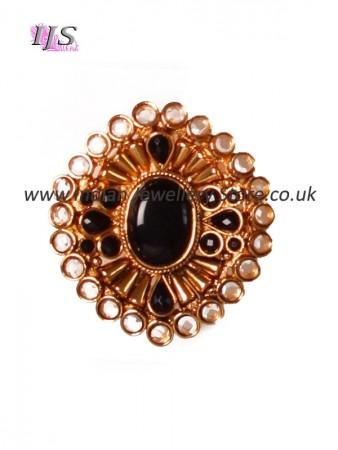 Gold Starburst Cocktail Ring AEBP10915