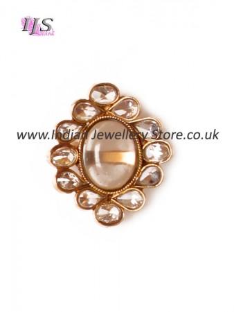 Simple Mughal medium ring AEWP10917