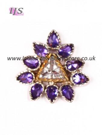 Small silver & purple ring ASUA10932