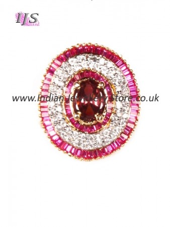 Medium CZ diamond Indian cocktail ring AGUA10937