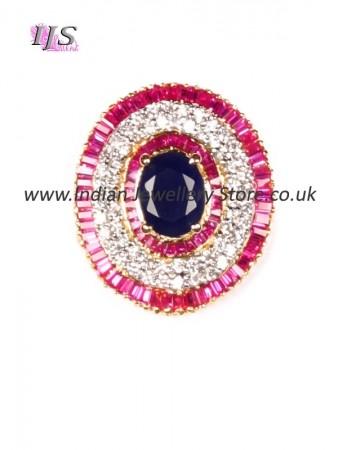 Medium CZ diamond Indian cocktail ring AGLA10938
