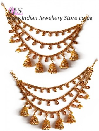 Traditional Indian Jhumki Saharas Jewellery UK