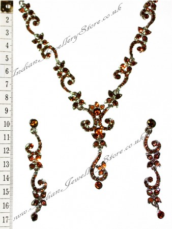 ALICIA crystal necklace set NSNC0827