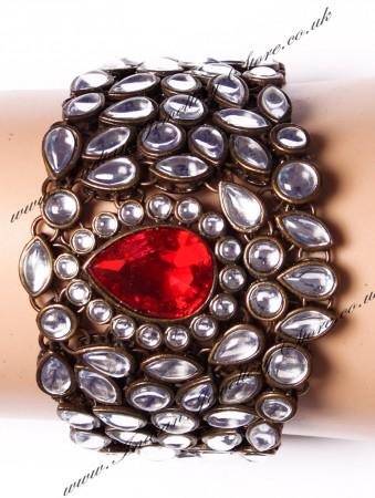 Wide Kundan Bracelet WARK03567