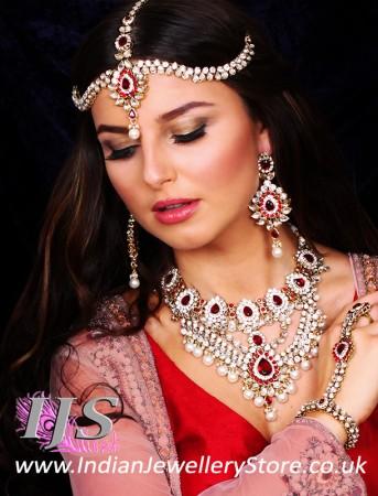 Kundan & Pearl Bridal Set - Vashita BAWL10507C