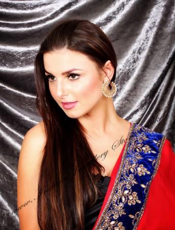 Modern Caged Statement Indian Hoop Earrings EGWA03813