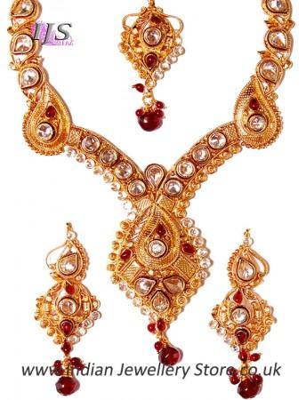 Rajasthani Paisley Necklace Set NGRA03221