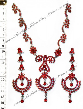 SHARON crystal necklace set NARC10526C