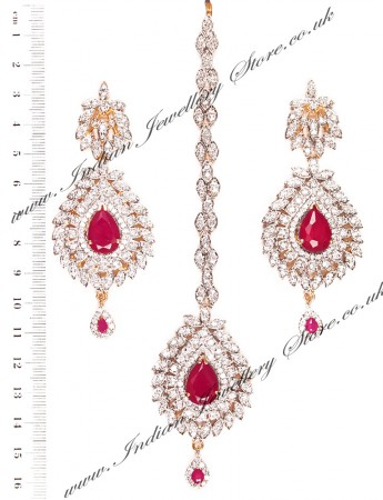 LAILA Earrings and Tikka IGRA03473