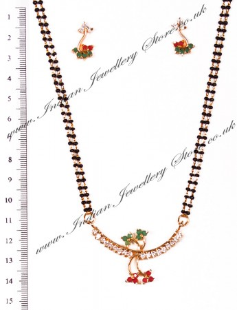 Coloured Mangalsutra Set MGAA03958