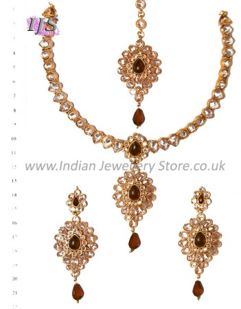 American Diamond Necklace Set NANA02368