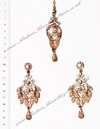 Yashi Earrings and Slim Tikka IANC02695