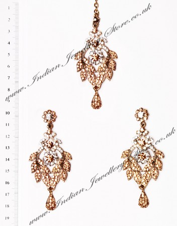 Yashi Earrings and Wider Tikka IANC03566