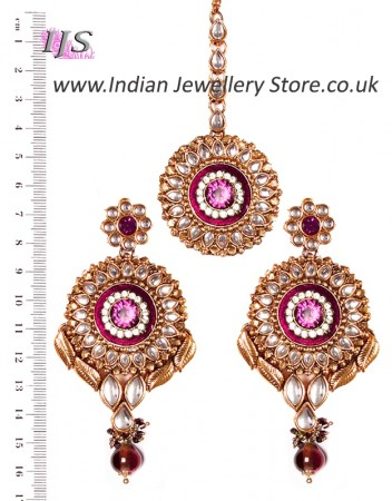 MASTI Earrings and Tikka IAUK02655