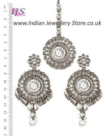 MASTI Earrings and Tikka ISWK02659