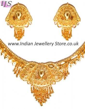 22k Effect Indian Necklace Set NGWN04684