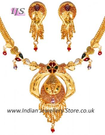 22k Effect Indian Necklace Set NGMP04691