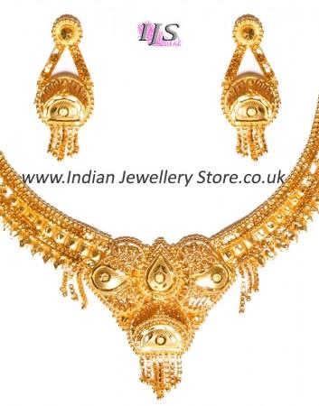 22k Gold Effect Indian Necklace Set NGWN04685