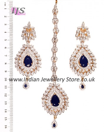 LAILA Earrings and Tikka IGLA03474