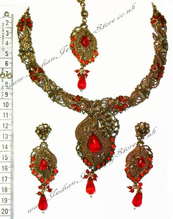 Red Necklace Set NARP0353