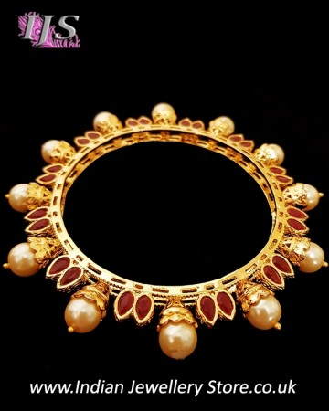 2 x Gold plated Jaipur Indian Bangles 2.8 WERL11104