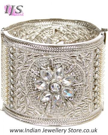 Silver Indian Cuff Bangle 2.4 WSWA11101