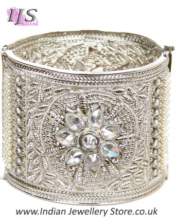 Silver Indian Cuff Bangle 2.6 WSWA11102