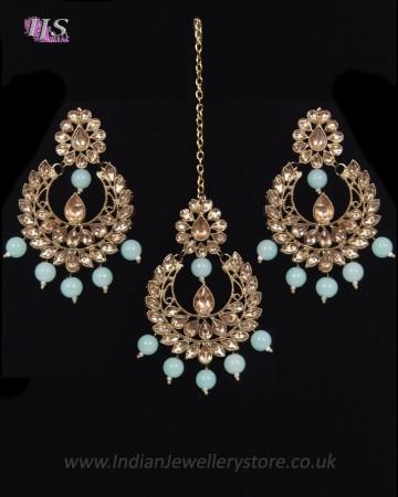 Value Antique Indian Earrings & Tikka Jewellery IALK11491