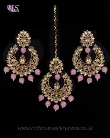 Value Antique Indian Earrings & Tikka Jewellery IAPK11493