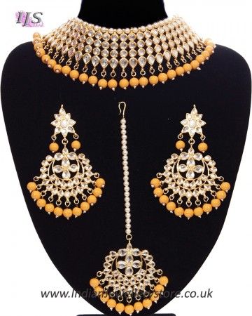 Large Kundan Choker Jewellery Set NEWK11156C