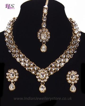 KAVITA Delicate Kundan Necklace Set NAWK11166C