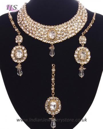 Striking Mughal Kundan Necklace Set NAWK11214