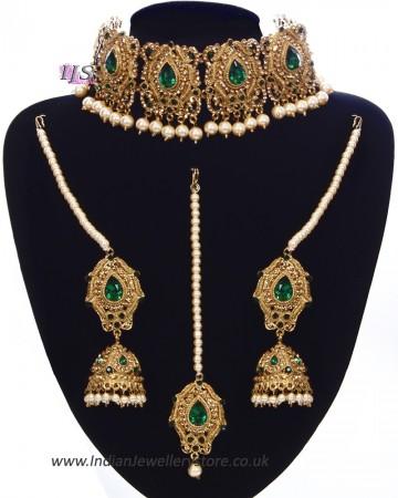 Antique & Pearl Indian Jewellery Set NAWC11225C