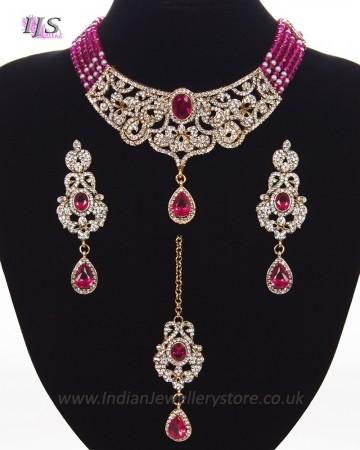 Classic Beaded Indian Jewellery Set NAPC11324C