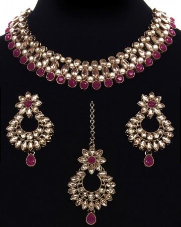 Antique Elegant Indian Choker Jewellery Set NANL11484C