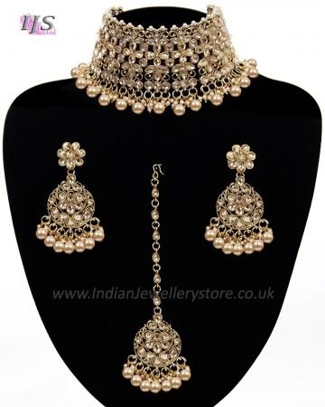 Asian Fashion Wide-Choker Jewellery Set NANK11518