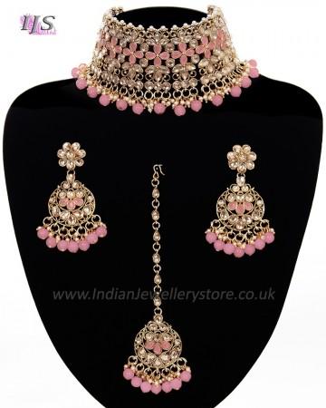 Asian Fashion Wide-Choker Jewellery Set NANK11519C
