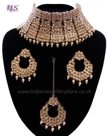 Regal Antique Full Neck Indian Bridal Choker NANK11667