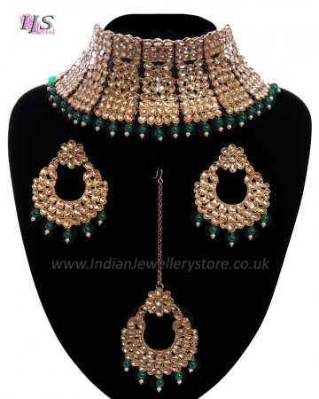 Regal Antique Full Neck Indian Bridal Choker NANK11668C